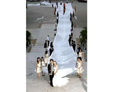 Weird Weddings 300 Ft Bridal Train