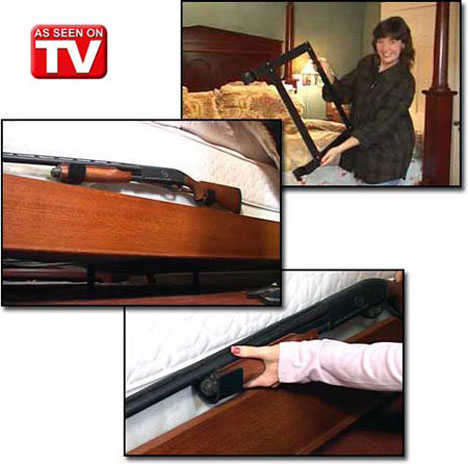 Bed-Mounted Shotgun Rack