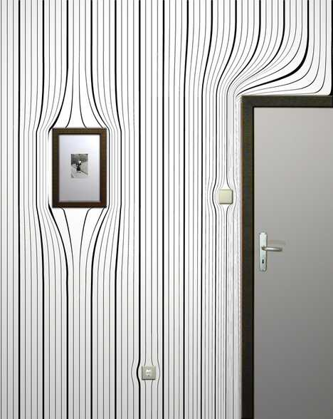 Optical Illusion Wallpaper - Warped Wall Coverings