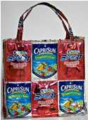 Teen Makes Bags Out of Juice Boxes