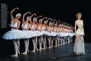 The Denisa Dvorakova Ballet Shoot for Vogue Russia February 2011
