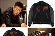 Stylish Black Letterman Jackets