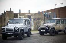 Ruggedly Boxy SUVs - The Land Rover Defender X-Tech is Classic Off-Road Stlying