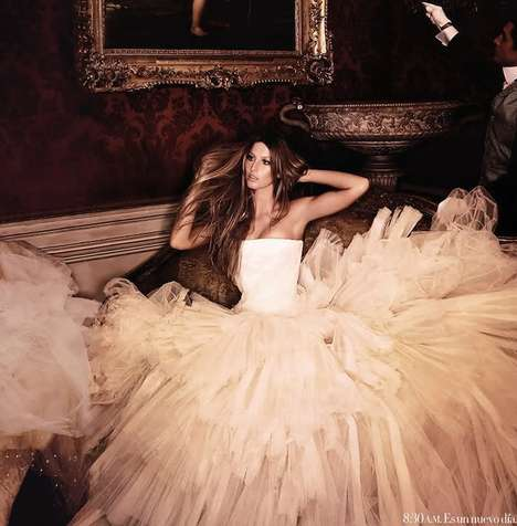 Fairytale Fashionista Spreads - The Giselle Bundchen Harper's Bazaar Spread Glows With Glamour