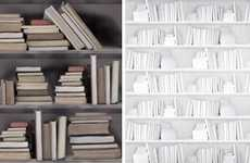 Faux Library Finishes - This Vintage Bookshelf Wallpaper Makes Your Home Intellectual
