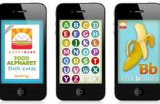 Infant iPhone Apps - This HAPPYBABY 'First Alphabet Flash Cards' App Helps Younglings Learn Letters