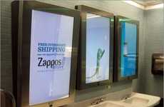 Magical Mirror Advertising - Clear Channel Outdoor and Mirrus Team Up in Public Washrooms