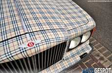 Fashionably Plaid Vehicles - This Burberry-Clad Bentley is Sure to Please Fashionistas
