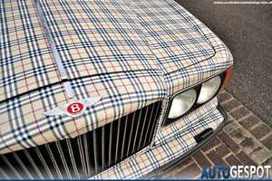 This Burberry-Clad Bentley is Sure to Please Fashionistas