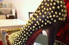 Edible Haute Couture Heels - These Chocolate Louboutin Shoes by Cocoandre is Savory Sweet