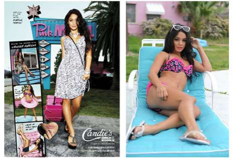 Sexy Motel Shoots - The Candie's Spring Ad Campaign Stars Vanessa Hudgens