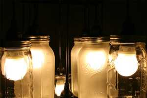 The Mason Jar Chandelier Preserves Light