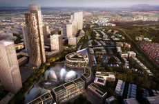 Massive Eco Cities - Green Tech City is a Sustainable Architectural Project on a Giant Scale