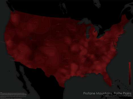 National Profanity Maps  - Daniel Huffman Charts Out Swear Words
