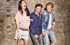Hip Schoolyard Fashion - The Tommy Hilfiger Spring Lookbook is an 80s Flashback