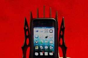 The Voodoofabrication's iPhone Stand has Some Sharp Looks