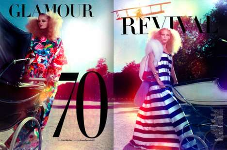 Outlandish Parisian Editorials - Glamour Revival by Taki Bibolas Combines Clown and Couture
