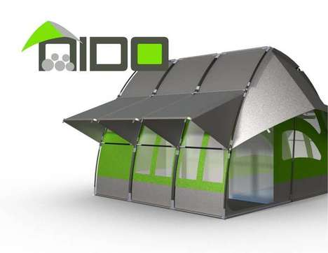 Sturdy Refugee Residences - The NIDO Portable Shelter is an Efficient, Effective Homeless Refuge