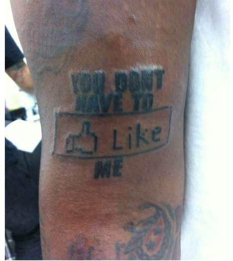 facebook themed tattoo