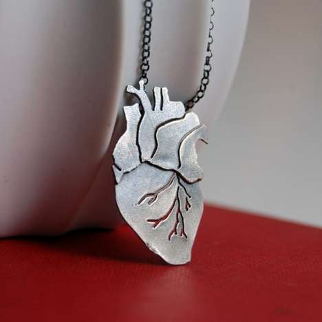 Vital Organ Jewelery - The Anatomical Heart Necklace is Perfect for Valentine's Day