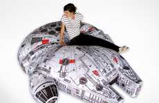 Sci-Fi Seating - The Millennium Falcon Lounger by Woouf is a Soft-Seated Wonder for Star Wars Fans