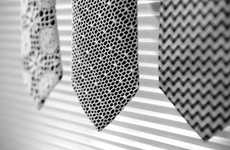 Marwood Neckties are Lacy But Not Too Frilly