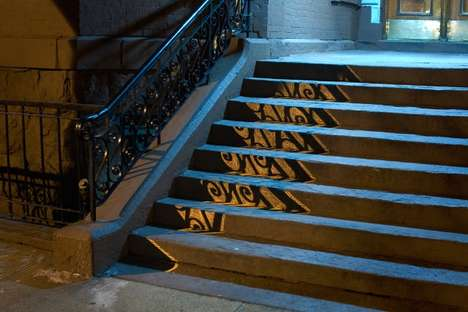 night shadows street art