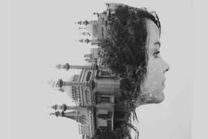 Double Exposures by Dan Mountford is Compellingly Contrasting