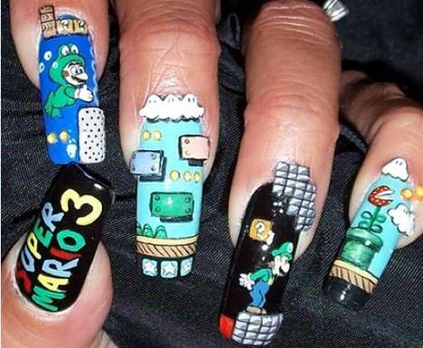 Video Game Nail Varnishes - These Super Mario Bros. Manicures Make Gaming Awkward