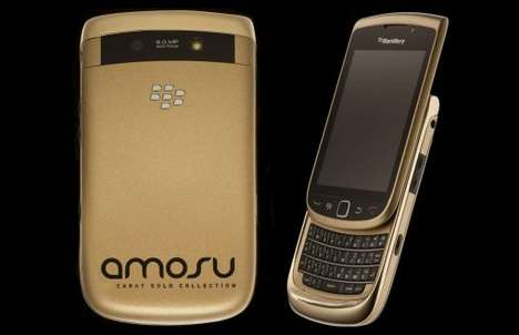 18 carat gold blackberry torch