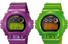 Colorful Metallic Timepieces - The New G-Shock DW-6900 Colorways are Flashy