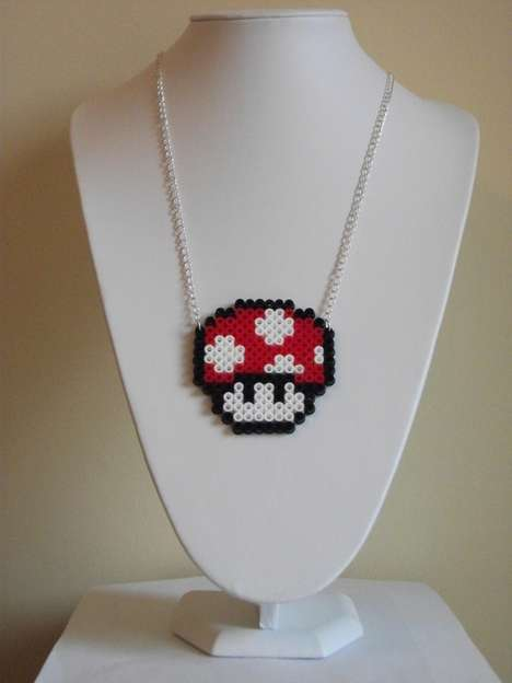 Pixelated Gamer Jewelry - Geek Out Wearing These Year Retro Accessories