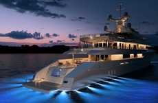 Stylish Glowing Yachts