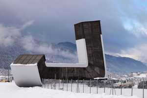 The Mestia Airport by J. Mayer H. Doubles as a Ski Resort