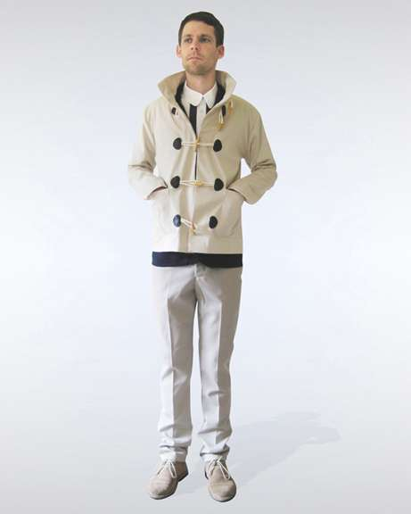 Cream Cropped Duffle Coat Pre-sale order