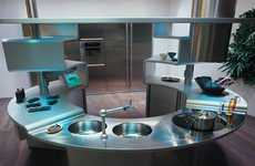 Convenient Curved Kitchenettes - Snaidero Kitchens Stir Up Undulating Space Solutions