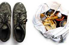 Shoe Chronicle Imagery - Graffiti Artist Ozcar Gorgias Photographs His Shoes from the Last 12 Years