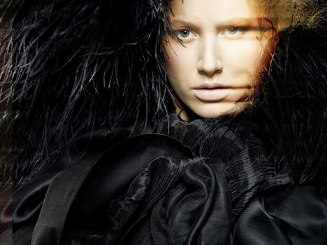 Distorted Fashion Photography - GLARE by Pierre Dal Corso is Visually Stimulating