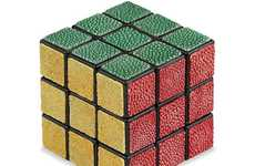 Luxury Leather Puzzles - The Shagreen Rubik's Cube is Being Sold for a Whopping $1,950
