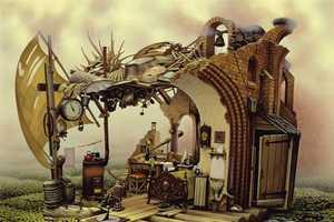 Jacek Yerka Has an Unusual Eye for Painting Homes