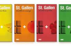 Minimalist Bonbon Bars - St Gallen Chocolate Packaging Keeps it Sweet and Simple