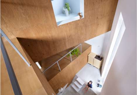 Roofed Treehouse Residences - The Suppose Design House in Fukawa Encases Cantilevered Spaces