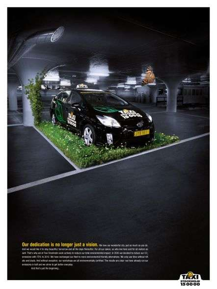 Eco-Conscious Transportation - This 'Taxi Stockholm' Ad Aims to Reduce CO2