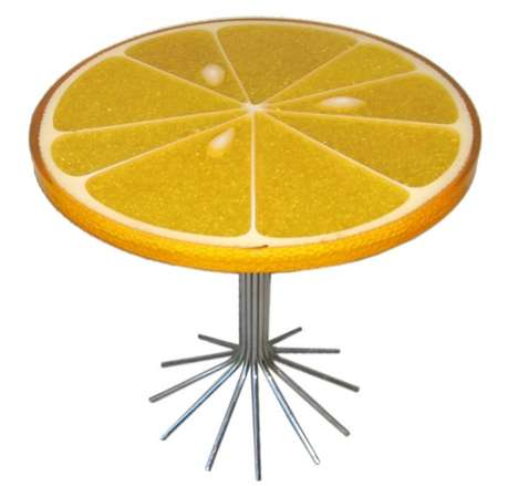 Sour Citrus Surfaces - Carl Chaffee's Lemon Slice Table Looks Entirely Edible