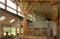 Reclaimed Wood Residences - Fallen Maples is a Fantastic Home Made from Fallen Trees