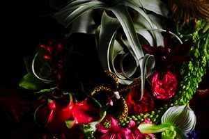 Makoto Azuma Creates Sparkly Floral Sculptures