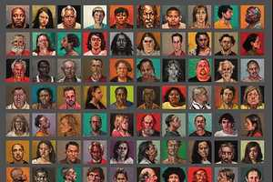 Karin Jurick Completes Her Painting of 100 Criminal Faces