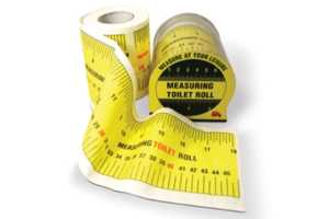 Measuring Tape Toilet Paper has Eco and Egocentric Uses