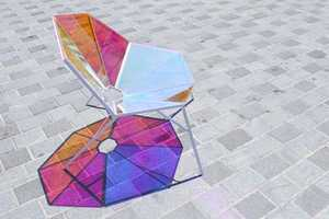 The Random8 Dichroic Armchair by Pitaya Casts a Pretty Reflection