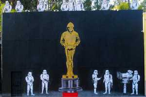 Nomination for 'Exit Through the Gift Shop' Inspires a Banksy Oscar Mural